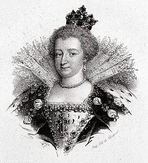 English: Maria de' Medici, old lithograph
