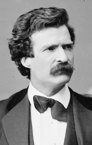 Mark Twain - Twain in February 1871 (photo by Mathew Brady)