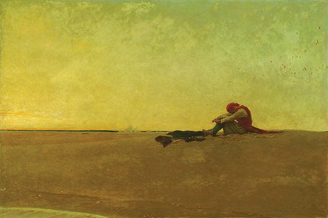 Иллюстрация Говарда Пайла «Пират, высаженный на необитаемый остров»