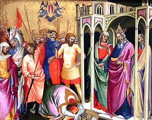 Pope Caius - Depiction of the alleged martyrdom of Pope Caius by Lorenzo Monaco. It was originally part of the altarpiece of the church of San Gaggio in Florence.