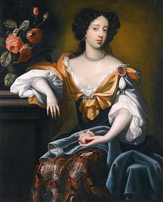 Mary of Modena - Portrait by Simon Pietersz Verelst, 1680