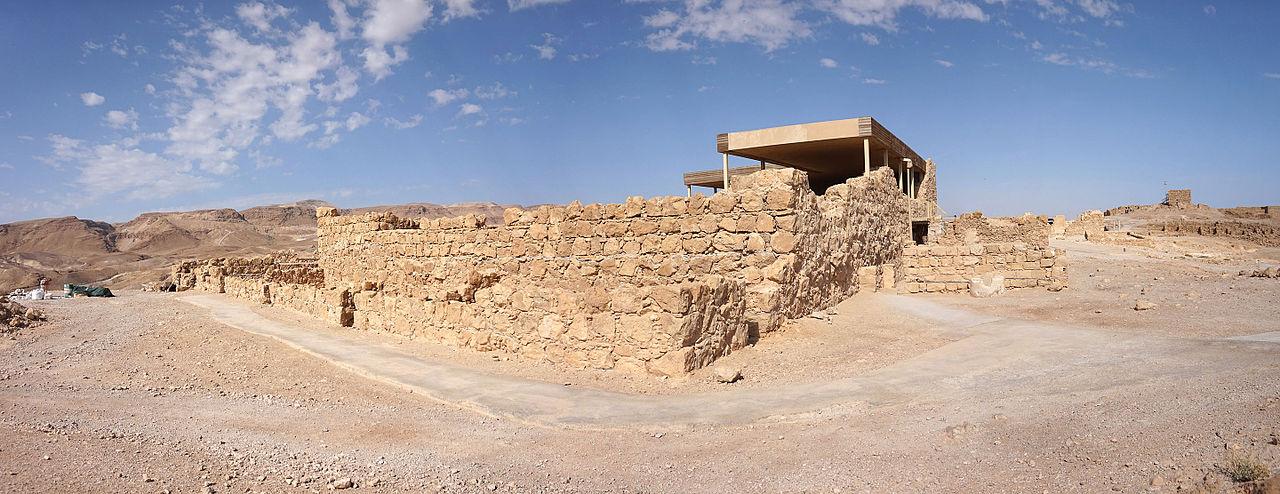 Masada - die herodianische Westpalast - vergrößerbar