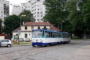 Maskavas Forštate - Tram on Maskavas street