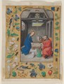 Master of the First Prayerbook of Maximillian - Leaf Excised from a Book of Hours- The Nativity - 2011.64 - Cleveland Museum of Art.tif