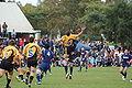 Matt Hodgson jumping at a kick off.JPG