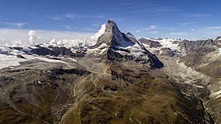 mountain in the Pennine Alps on the border between Switzerland and Italy