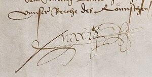 Deutsch: Große Ausfertigung der Unterschrift M...