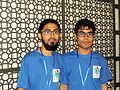 Mayeenul Islam and Nahid Sultan at Bengali Wikipedia 10th Anniversay Gala Event in Dhaka.jpg