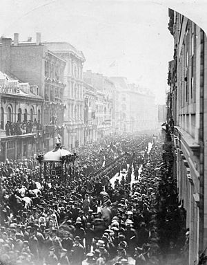 State funerals in Canada - The funeral procession of Thomas D'Arcy McGee during his state funeral in Ottawa, 1868