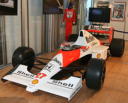The McLaren MP4 5B raced by Senna in 1990. eb13758ab