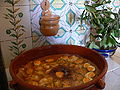 Meal catalan dried cod with eggs and raisins.JPG