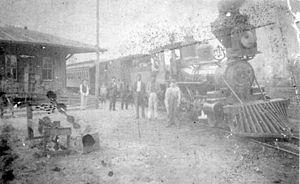 Melrose, Florida - Image: Melrose FL Santa Fe Rail 1890