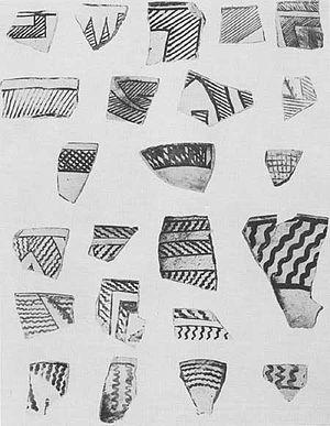 Pueblo II Period - Image: Mesa Verde Pueblo II Pottery