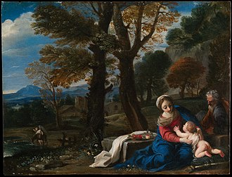 Rest on the Flight into Egypt (Mola) - Image: Met Mola DP116165