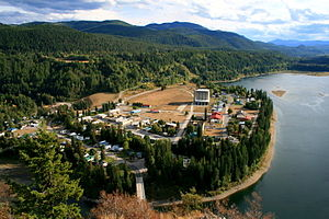 Pend Oreille River - The Pend Oreille River at the town of Metaline Falls