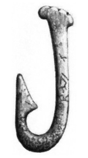 Fishing - Stone Age fish hook made from bone