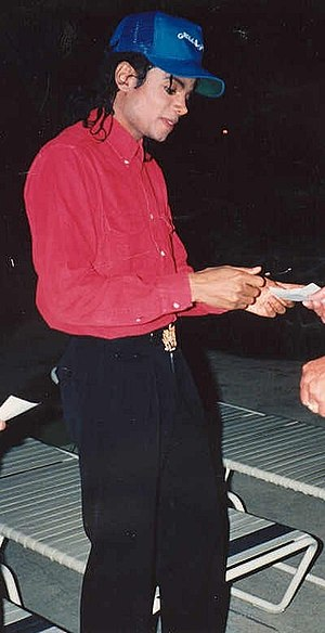 Michael Jackson gives autograph as only depicted artist.jpg