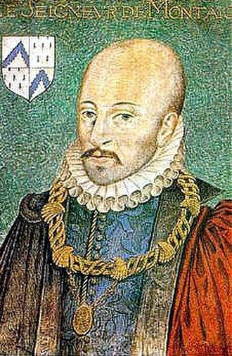 Michel de Montaigne - Portrait of Michel de Montaigne by Dumonstier around 1578