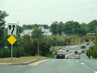 Seneca Valley High School - Seneca Valley High School's football field as seen from Middlebrook Road in September 2013
