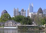 Midtown Atlanta skyline from Clara Meer in Piedmont Park.JPG
