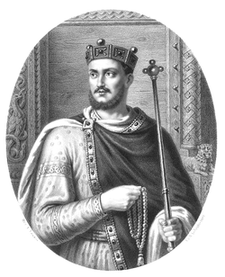 Mieszko II by Aleksander Lesser.PNG