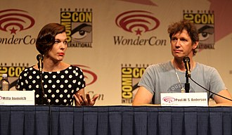 Resident Evil: Retribution - Jovovich with Paul W. S. Anderson at the 2012 WonderCon in promotion of Resident Evil: Retribution.