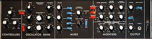 Minimoog - Minimoog control panel