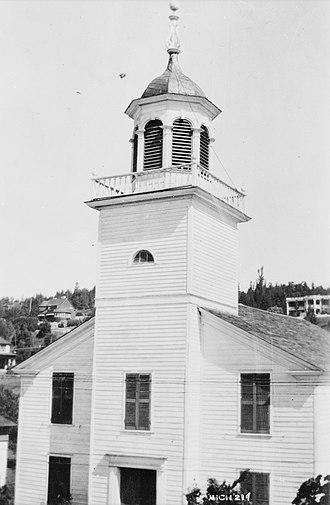Mission Church (Michigan) - Image: Mission Church, Mackinac Island