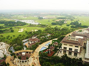 Golf in China - Mission Hills Haikou in Hainan Province is a golf resort under-construction which will be the world's largest when completed.
