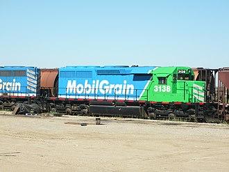 EMD SD40 - Last Mountain Railway SD40-3 at Aylesbury, Saskatchewan