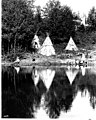 Mock Indian village with three tipis at Ravenna Park, Seattle (CURTIS 183).jpeg
