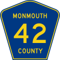 Monmouth County Route 42 NJ.svg