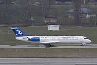 4O-AOP - F100 - Montenegro Airlines