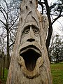 Montevallo, Alabama Tim Tingle Tree Carvings in Orr Park 1.JPG
