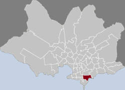 Location of Pocitos in Montevideo