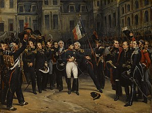 Old Guard (France) - Napoleon saying goodbye to the Old Guard at the Palace of Fontainebleau, after his first abdication (1814)