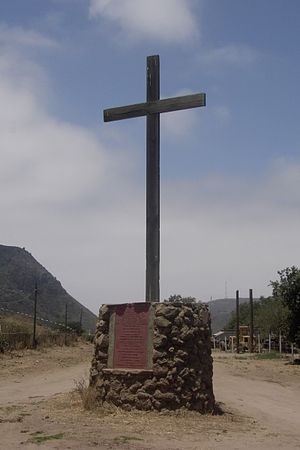 Baja California Territory - Marker of the historical northern border with Alta California