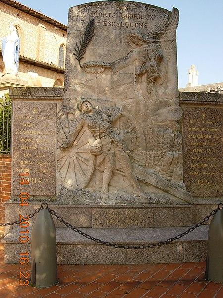 France, Haute-Garonne, Monument aux morts d'Escalquens