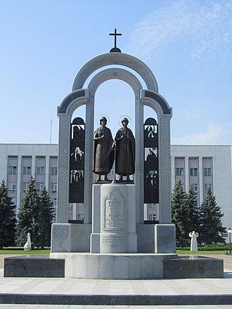 Boris and Gleb - Monument to Kiev princes Boris and Gleb in Vyshhorod