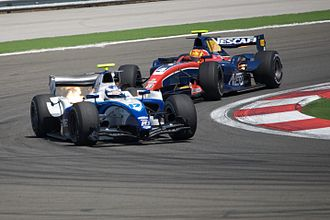 Arden International - Mortara leading at the race in Turkey