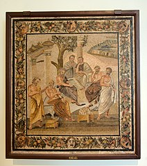 Plato's Academy mosaic (from Pompeii)