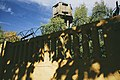 Moscow, Avtomotornaya Street - barbed wire and watchtower (22147059696).jpg