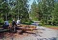 Moscow. Log bench in Zaryadye Park.jpg