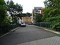 Most Sue Ryder, pohled k ulicím Za Arielem a U plynárny.jpg