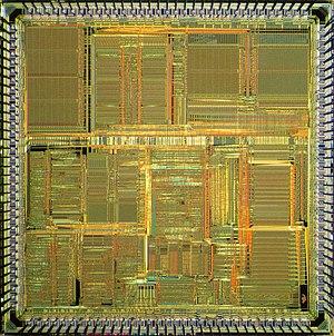 Motorola 56000 - Die of Motorola DSP56002.