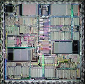 Motorola 96000 - Die of Motorola DSP96002.
