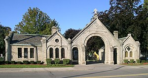 Eastside Historic Cemetery District - Mount Elliott Cemetery front gate, built 1882