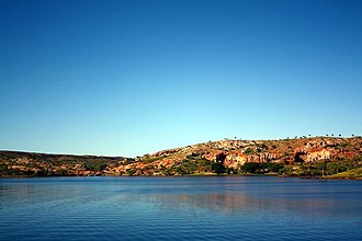 Mount Isa Mines - Lake Moondarra on the Leichhardt River, created in 1958.