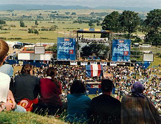 New Zealand music festivals - Mountain Rock with Kevin Borich on stage