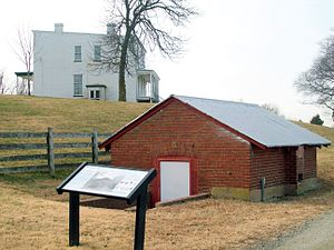 Oxon Cove Park and Oxon Hill Farm - Image: Mt Welby and Root Cellar Oxon Hill Manor Dec 10